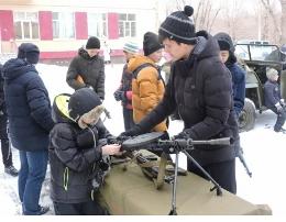 Челябинские школьники побывали в роли бойцов Красной Армии